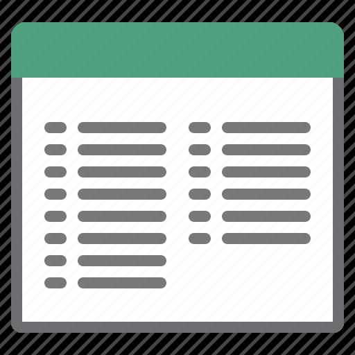 list, mode, view icon
