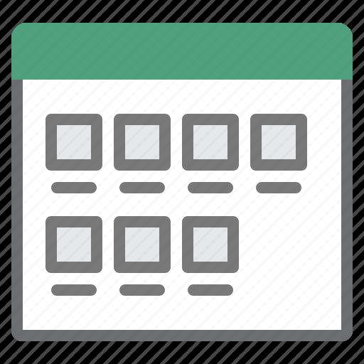 items, medium, mode, view icon