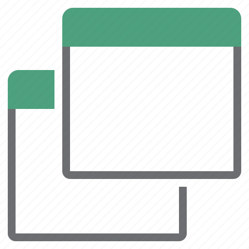 multiple, several, views icon