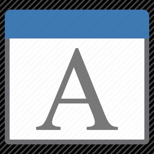 font, window icon