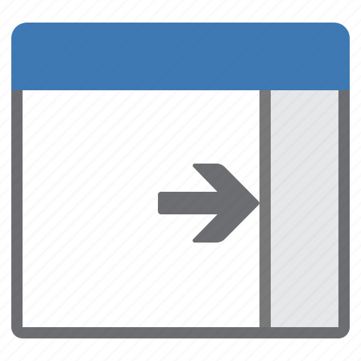 Panel, right, window icon - Download on Iconfinder