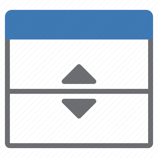 horizontal, separate, window icon
