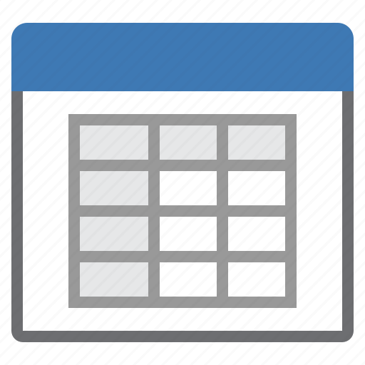 spreadsheet, window icon