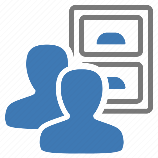 archive, drawer, group, information, management, user, users icon