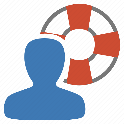 assistance, help, life-buoy, management, service, user icon