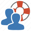 assistance, group, help, management, service, user, users icon