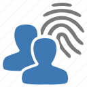 authentication, fingerprint, group, management, security, user icon