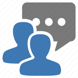 chat, discuss, group, management, message, talk, user icon