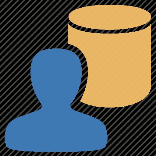 data, database, information, management, user icon
