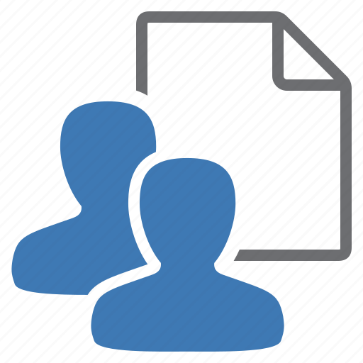 document, file, group, management, user, users icon