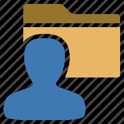 folder, management, profile, user icon