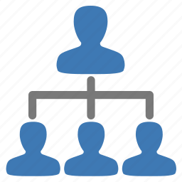 company, hierachy, management, structure, user icon