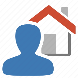 home, home automation, management, user icon