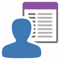 list, management, user icon