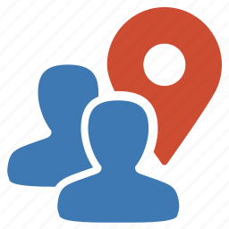 coordinates, geolocalization, group, location, management, position, user icon