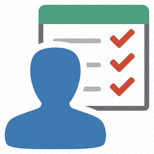 list, manage, management, objectives, tasks, to do, user icon