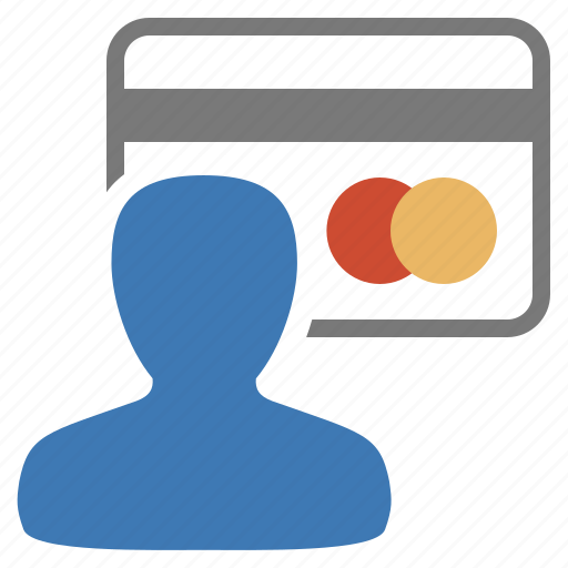 card, credit, management, pay, payment, user icon