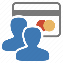 card, credit, group, management, pay, payment, user icon