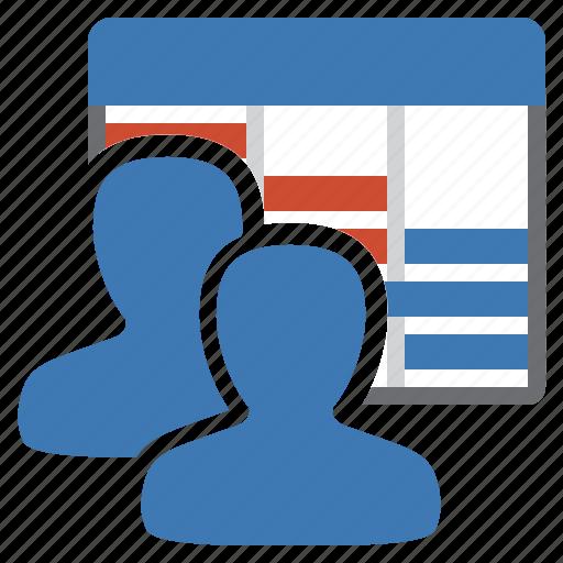 diagram, gantt, group, management, planning, schedule, user icon