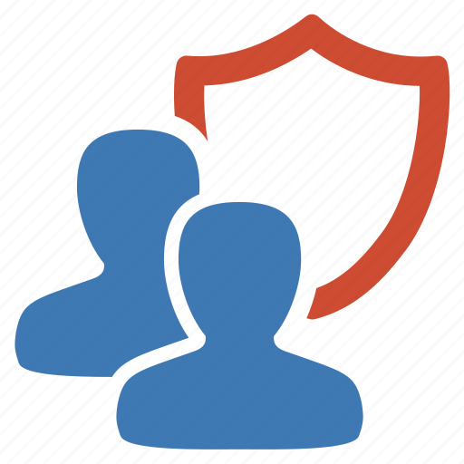 group, management, protection, security, shield, user icon