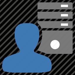 management, server, user icon