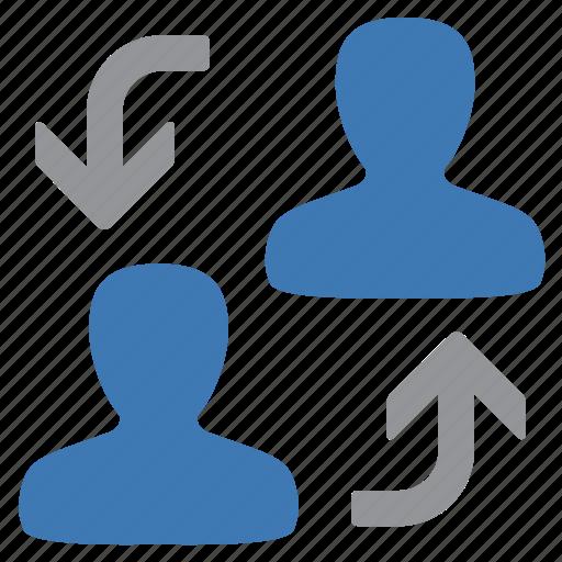 change, man, management, swap, user icon