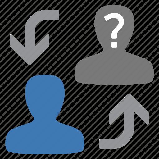 change, man, management, swap, unknown, user icon