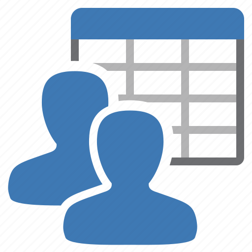 group, management, table, user icon