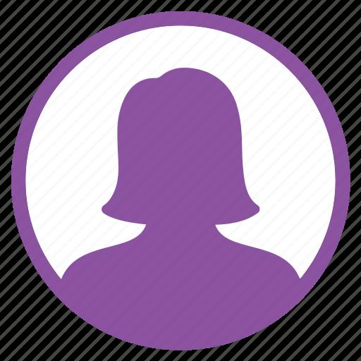 avatar, management, profile, user, woman icon