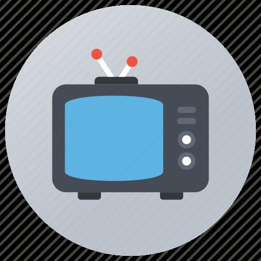 digital media, electronic media, entertainment, old fashioned tv, retro tv, vintage television icon