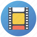 cinema reel, film, film roll, movie reel, reel, stagger icon