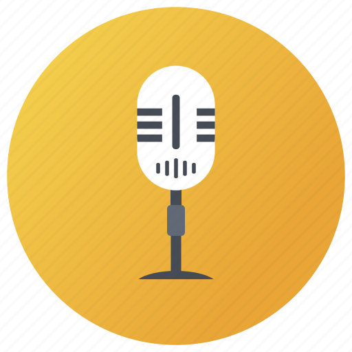 commentator, electronic media, microphone, mike, speaker, wireless mic icon