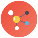 atomic chain, chemistry formula, electron bonding, molecular structure, molecule icon
