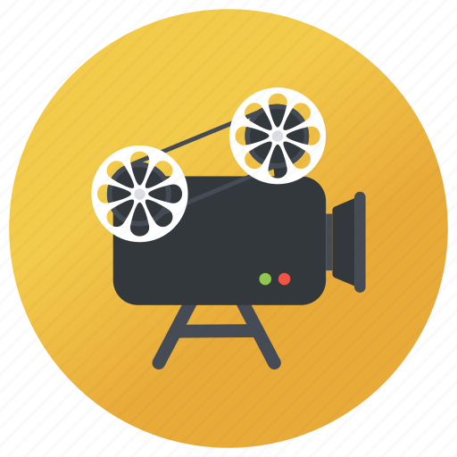 cinematography, film camera, film recorder, movie camera, video camera icon