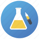 chemical experiment, lab equipment, lab research, laboratory testing, practical icon