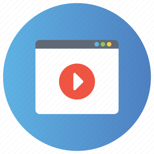 browser, marketing, online video, optimization, seo, webpage video icon