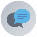 business discussions, chatting, communication, conversation, discussion icon