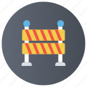 traffic barrier, security barrier, entrance exit, road barrier, barre gate icon