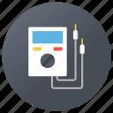 ammeter, current detecting meter, electrometer, galvanometer, ohmmeter icon