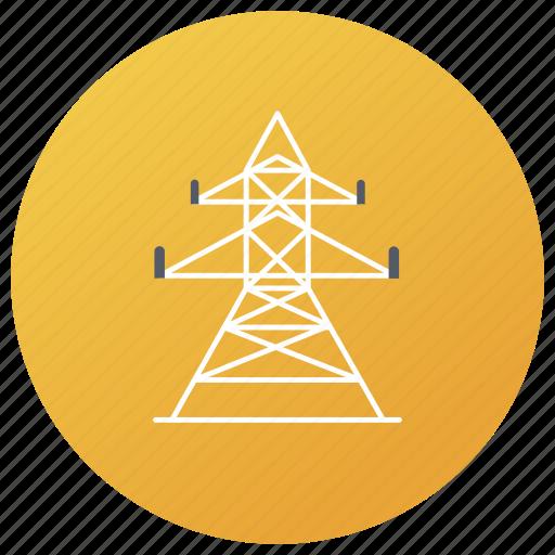 electricity grid, electricity house, electricity tower, power generation, transmission tower icon