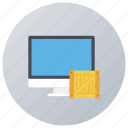 parcel auditing, parcel checking, parcel monitoring, parcel supervising, parcel tracking icon