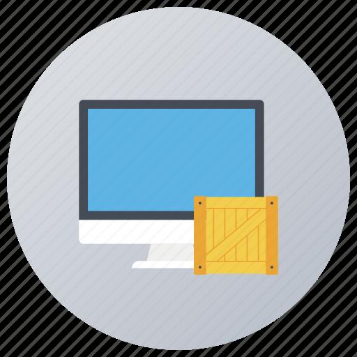 parcel auditing, parcel checking, parcel monitoring, parcel supervising, parcel tracking icon