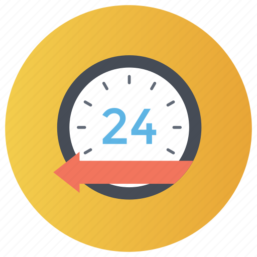 24 hour delivery, fast service, on time dispatch, quick service, timely delivery icon
