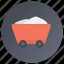 garbage cart, garbage truck, hand cart, trash bin, waste disposal icon