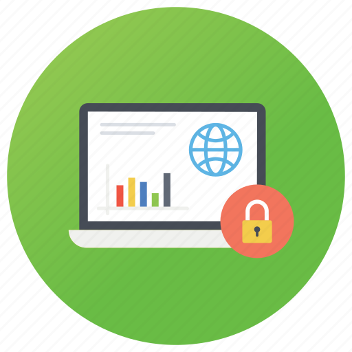 data protection, device locked, laptop security, pc protection, secured data icon