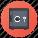 bank locker, bank vault, cash box, money box, safety box icon