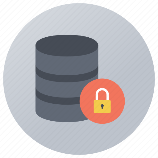 data protection, data safety, data server security, database security, network security icon