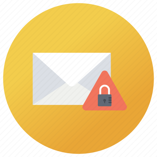 envelope protection, locked mail, mail protection, mail security, secure envelope icon