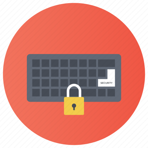 data protection, device locked, hardware security, keyboard lock, laptop security, pc protection icon