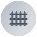 bar, barrier, fence, metal fence, railing, wood fence icon